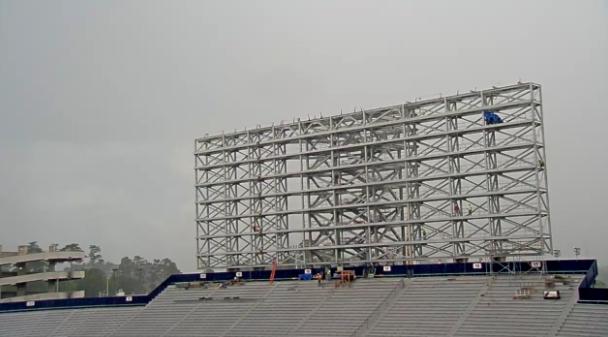 Auburn scoreboard construction
