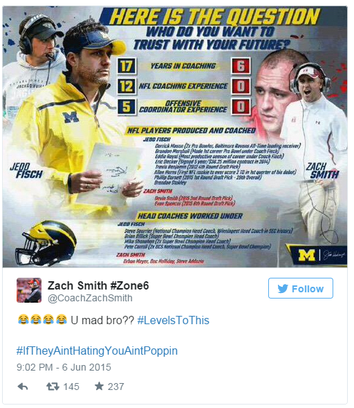 Zach Smith Tweet