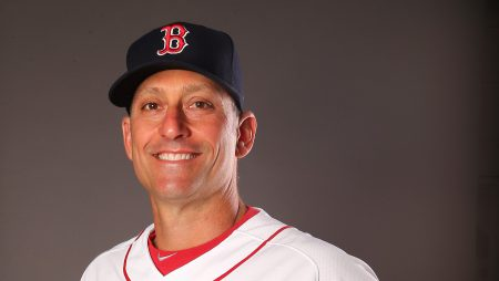 FORT MYERS, FL - FEBRUARY 28: Torey Lovullo #17 of the Boston Red Sox poses for a portrait on February 28, 2016 at JetBlue Park in Fort Myers, Florida. (Photo by Elsa/Getty Images)