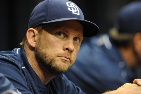 ST. PETERSBURG, FL - AUGUST 16: Manager Andy Green #14 of the San Diego Padres looks on from the bench in the fourth inning against the Tampa Bay Rays on August 16, 2016 at Tropicana Field in St. Petersburg, Florida. (Photo by Cliff McBride/Getty Images)