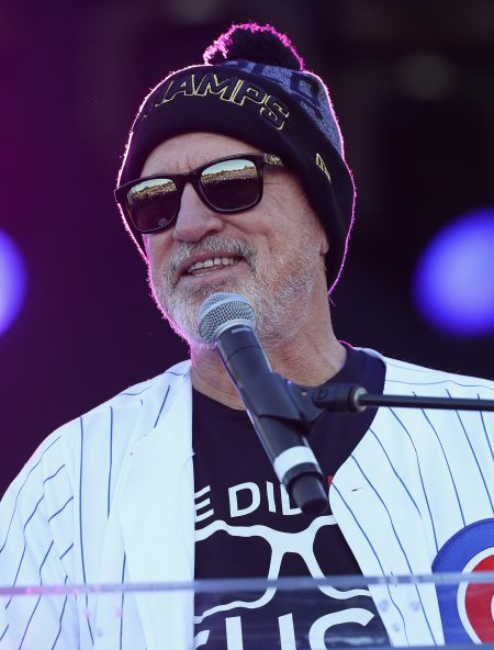 CHICAGO, IL - NOVEMBER 04: Manager Joe Maddon of the Chicago Cubs speakds to the crowd during the Chicago Cubs victory celebration in Grant Park on November 4, 2016 in Chicago, Illinois. The Cubs won their first World Series championship in 108 years after defeating the Cleveland Indians 8-7 in Game 7. (Photo by Jonathan Daniel/Getty Images)