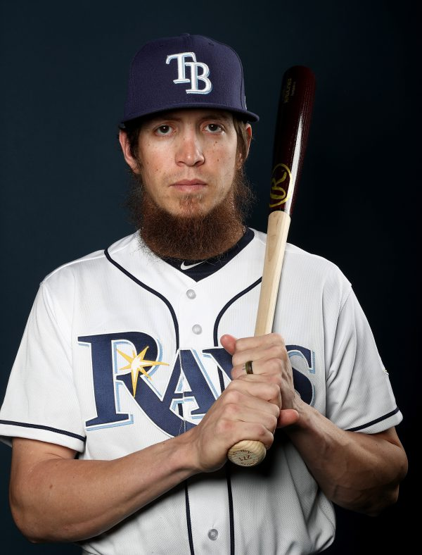 PORT CHARLOTTE, FL - FEBRUARY 18: Colby Rasmus #28 of the Tampa Bay Rays poses for a portrait during the Tampa Bay Rays photo day on February 18, 2017 at Charlotte Sports Park in Port Charlotte, Floida. (Photo by Elsa/Getty Images)