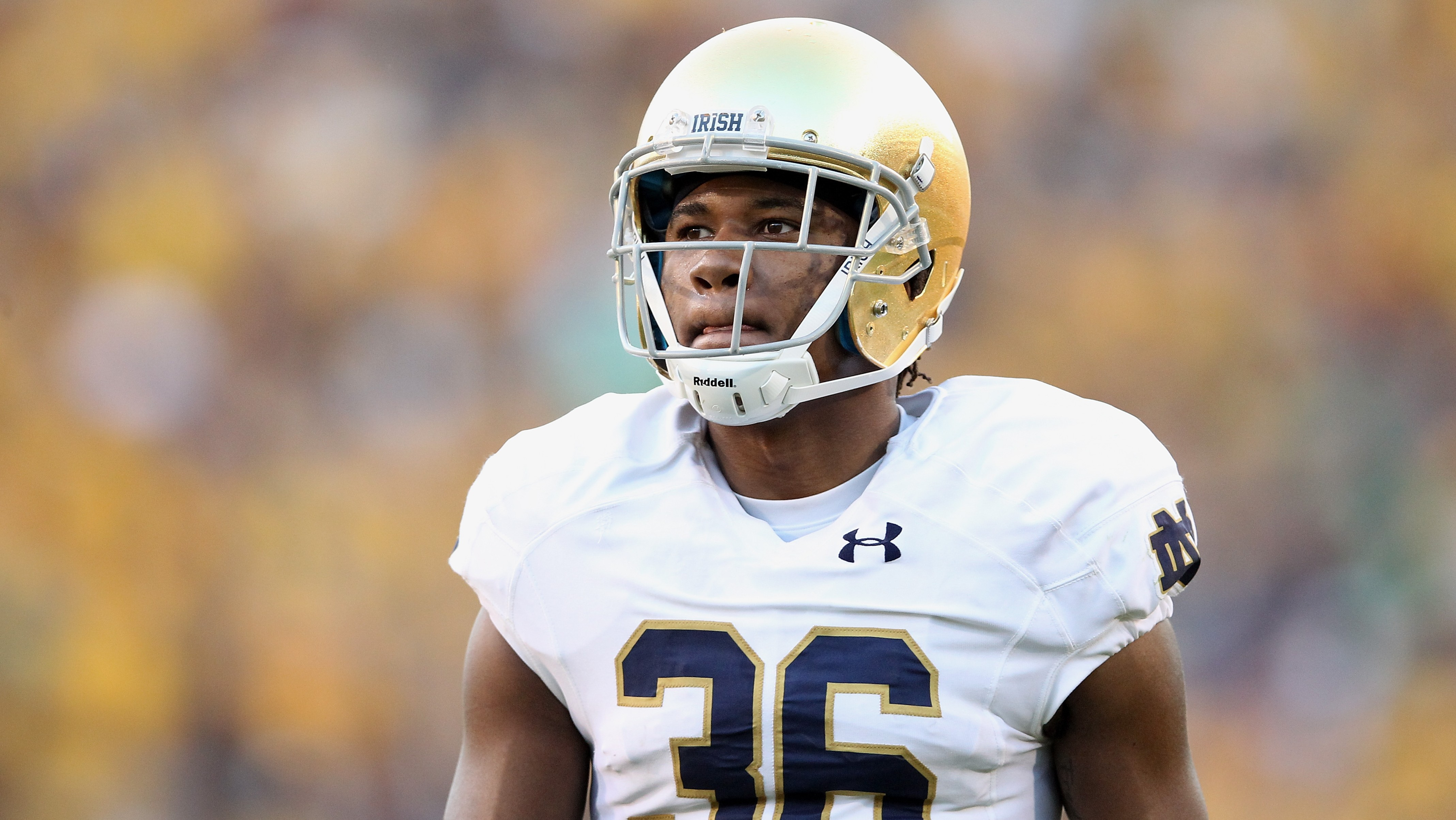TEMPE, AZ - NOVEMBER 08: Cornerback Cole Luke #36 of the Notre Dame Fighting Irish during the college football game against the Arizona State Sun Devils at Sun Devil Stadium on November 8, 2014 in Tempe, Arizona. The Sun Devils defeated the Fighting Irish 55-31. (Photo by Christian Petersen/Getty Images)