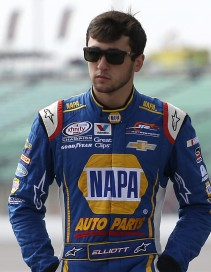 KANSAS CITY, KS - OCTOBER 17: Chase Elliott, driver of the #9 NAPA Auto Parts Chevrolet, walks on the grid during qualifying for the NASCAR XFINITY Series Kansas Lottery 300 at Kansas Speedway on October 17, 2015 in Kansas City, Kansas. (Photo by Matt Sullivan/Getty Images)