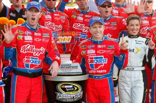 Mark Martin's last career Sprint Cup win at New Hampshire in 2009.