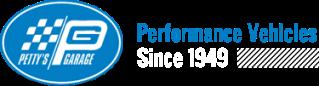 petty's garage logo