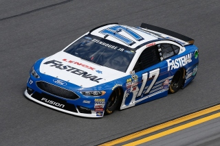 DAYTONA BEACH, FL - FEBRUARY 14: Ricky Stenhouse Jr., driver of the #17 Fastenal Ford, drives during qualifying for the NASCAR Sprint Cup Series Daytona 500 at Daytona International Speedway on February 14, 2016 in Daytona Beach, Florida. (Photo by Jeff Zelevansky/Getty Images)