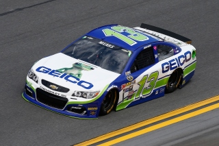 DAYTONA BEACH, FL - FEBRUARY 14: Casey Mears, driver of the #13 GEICO Chevrolet, drives during qualifying for the NASCAR Sprint Cup Series Daytona 500 at Daytona International Speedway on February 14, 2016 in Daytona Beach, Florida. (Photo by Jeff Zelevansky/Getty Images)