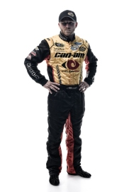 DAYTONA BEACH, FL - FEBRUARY 16: (EDITOR'S NOTE: This image has been processed using digital filters.) NASCAR Sprint Cup Series driver Jeffrey Earnhardt poses for a portrait during NASCAR Media Day at Daytona International Speedway on February 16, 2016 in Daytona Beach, Florida. (Photo by Jared C. Tilton/Getty Images)