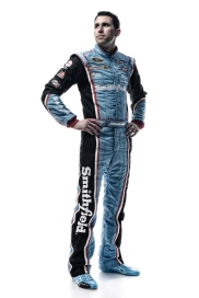DAYTONA BEACH, FL - FEBRUARY 16: (EDITOR'S NOTE: This image has been processed using digital filters.) NASCAR Sprint Cup Series driver Aric Almirola poses for a portrait during NASCAR Media Day at Daytona International Speedway on February 16, 2016 in Daytona Beach, Florida. (Photo by Jared C. Tilton/Getty Images)