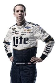 DAYTONA BEACH, FL - FEBRUARY 16: (EDITOR'S NOTE: This image has been processed using digital filters.) NASCAR Sprint Cup Series driver Brad Keselowski poses for a portrait during NASCAR Media Day at Daytona International Speedway on February 16, 2016 in Daytona Beach, Florida. (Photo by Jared C. Tilton/Getty Images)