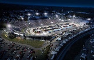 An artists rendering of what Martinsville Speedway will look like under the lights. (Courtesy of Martinsville Speedway)