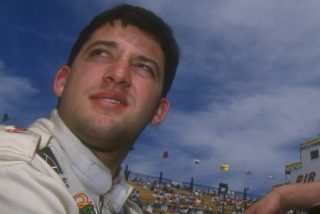 23 Mar 1997: Tony Stewart and John Menard enjoying the Dura-Lube 200 Indy Racing League at the Phoenix International Raceway in Phoenix, Arizona.