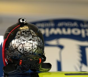 HOMESTEAD, FL - NOVEMBER 20: The helmet of Dale Earnhardt Jr., driver of the #88 Nationwide Chevrolet, sits on top of his car in the garage area during practice for the NASCAR Sprint Cup Series Ford EcoBoost 400 at Homestead-Miami Speedway on November 20, 2015 in Homestead, Florida. (Photo by Mike Ehrmann/Getty Images)