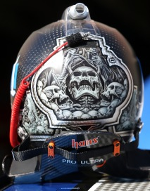 HAMPTON, GA - FEBRUARY 26: A view of the helmet for Dale Earnhardt Jr (not pictured), driver of the #88 Nationwide Chevrolet, during practice for the NASCAR Sprint Cup Series Folds of Honor QuikTrip 500 at Atlanta Motor Speedway on February 26, 2016 in Hampton, Georgia. (Photo by Matt Hazlett/Getty Images)