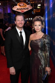 LAS VEGAS, NV - DECEMBER 02: NASCAR Sprint Cup Series driver Dale Earnhardt Jr. and his fiance Amy Reimann attend the 2016 NASCAR Sprint Cup Series Awards at Wynn Las Vegas on December 2, 2016 in Las Vegas, Nevada. (Photo by Ethan Miller/Getty Images)