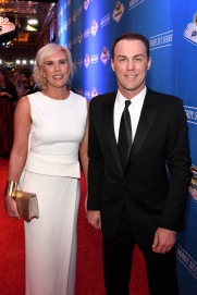 LAS VEGAS, NV - DECEMBER 02: NASCAR Sprint Cup Series driver Kevin Harvick and his wife Delana attend the 2016 NASCAR Sprint Cup Series Awards at Wynn Las Vegas on December 2, 2016 in Las Vegas, Nevada. (Photo by Ethan Miller/Getty Images)