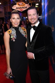 LAS VEGAS, NV - DECEMBER 02: NASCAR Sprint Cup Series driver Kurt Busch and his fiance Ashley Van Metre attend the 2016 NASCAR Sprint Cup Series Awards at Wynn Las Vegas on December 2, 2016 in Las Vegas, Nevada. (Photo by Ethan Miller/Getty Images)