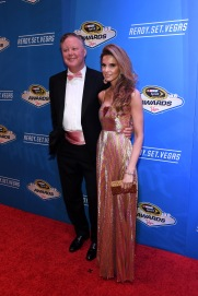 LAS VEGAS, NV - DECEMBER 02: NASCAR Chairman and Chief Executive Officer Brian France and his wife Amy attend the 2016 NASCAR Sprint Cup Series Awards at Wynn Las Vegas on December 2, 2016 in Las Vegas, Nevada. (Photo by Ethan Miller/Getty Images)