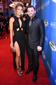 LAS VEGAS, NV - DECEMBER 02: NASCAR Sprint Cup Series driver Austin Dillon and his fiance Whitney Ward attend the 2016 NASCAR Sprint Cup Series Awards at Wynn Las Vegas on December 2, 2016 in Las Vegas, Nevada. (Photo by Ethan Miller/Getty Images)