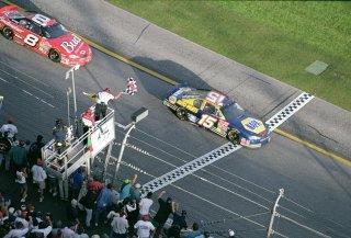 Waltrip, followed by Dale Earnhardt Jr., wins the 2001 Daytona 500.